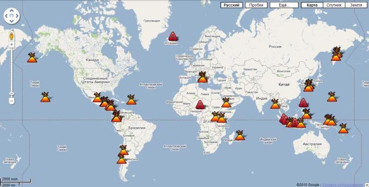 World map of volcanoes volcanoes pinterest world map of volcanoes gumiabroncs Images