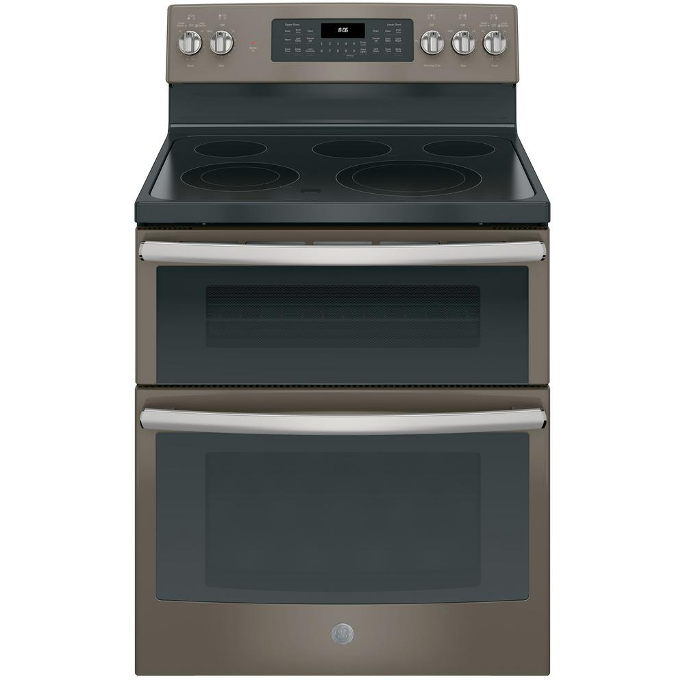 Ge 6 6 Cu Ft Double Oven Electric Ran With Self Cleaning And