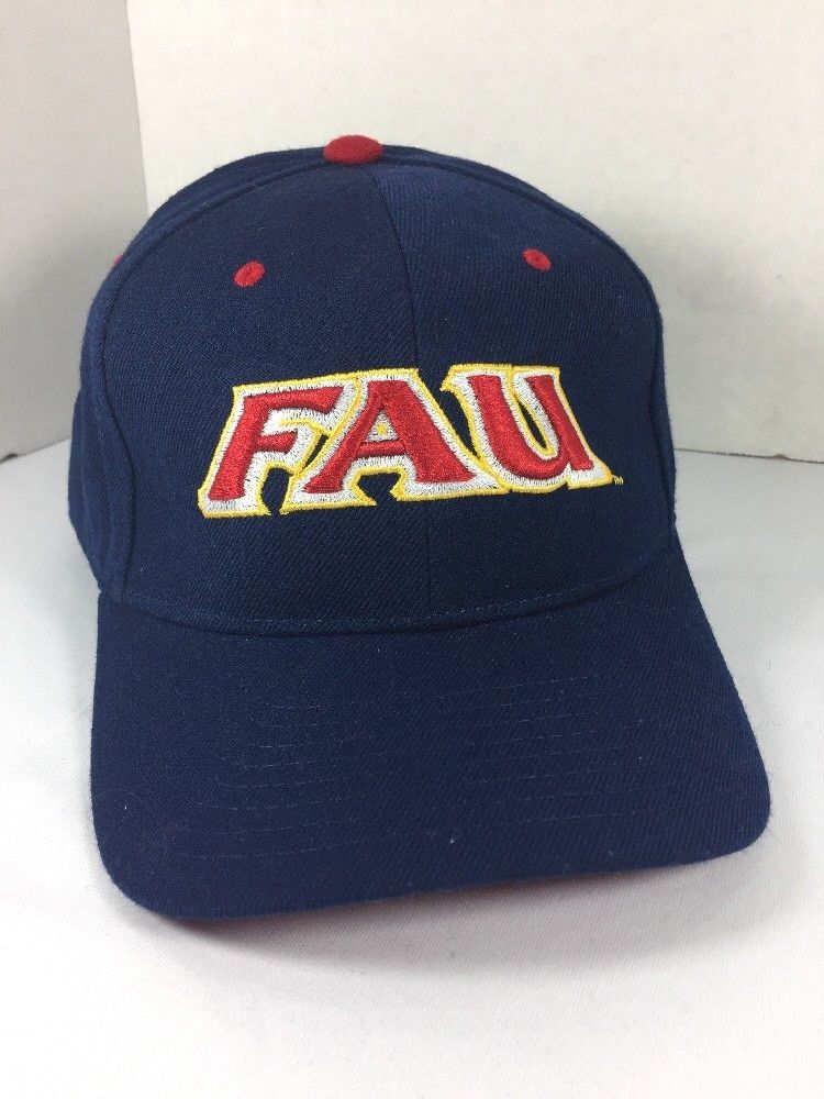quality design 54868 9cd93 FAU Owls Structured Wool Baseball Cap hat Zephyr 7 5 8 FL Atlantic  University   eBay