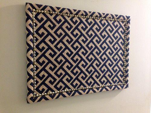 Greek Key Upholstery Cork Board