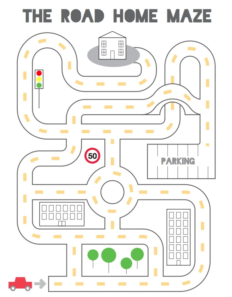 Road Home Maze Teaching Resources Mazes For Kids Printable