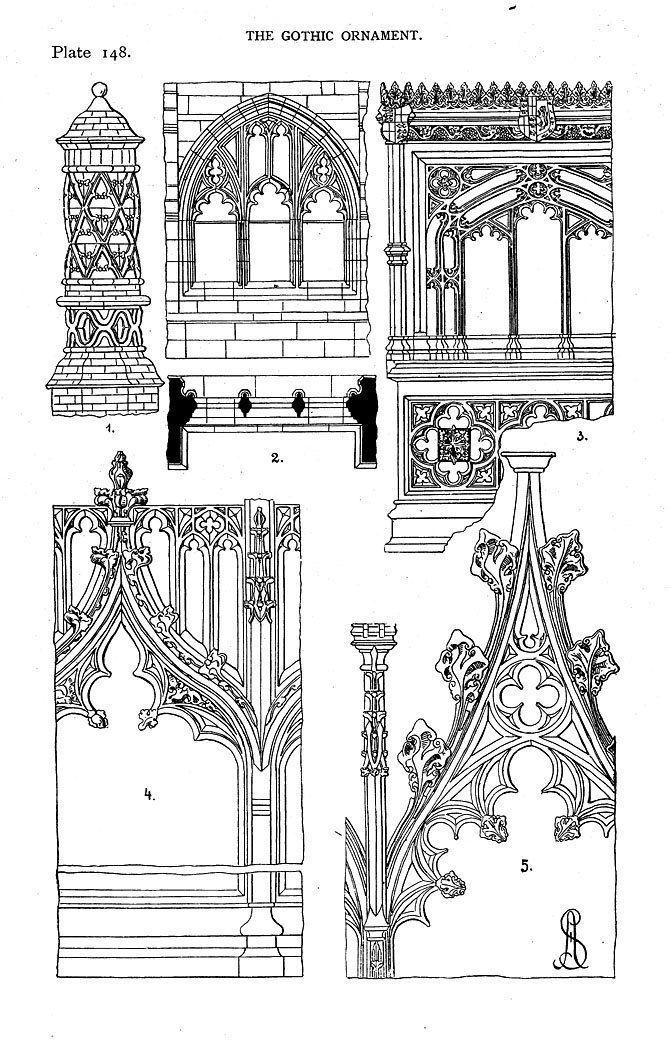 история дизайна готика картинки также мелко нарезаем