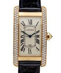 Tank Americaine diamond & gold watch