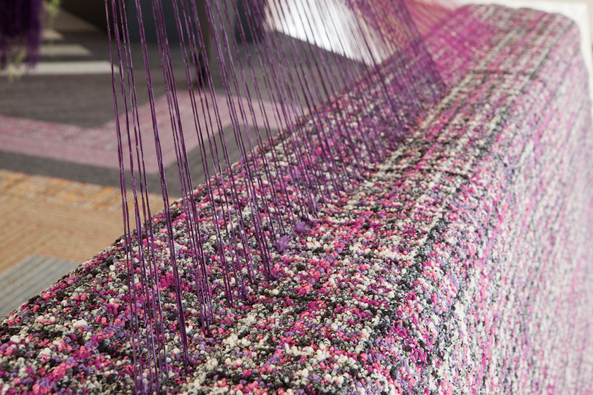 Art And Interior Design Are Blurring Weaving Installation