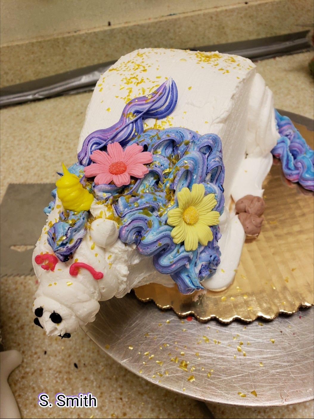 Unicorn half moon cake | Cake, Moon cake, Desserts