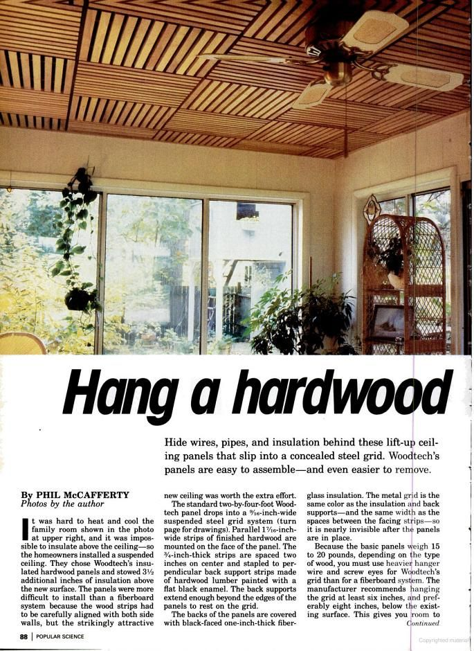 Make Your Own Wooden Ceiling With A Suspended Ceiling Grid