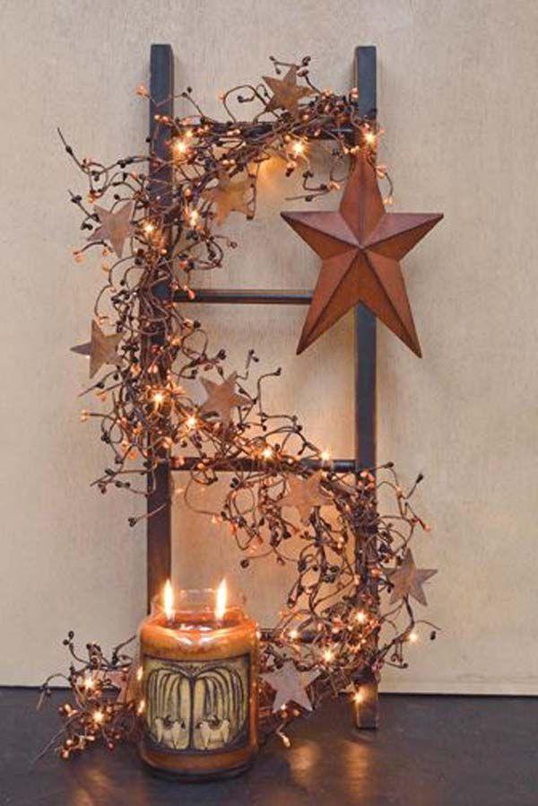 Rustic Christmas Decoration Ideas Rustic Christmas - Diy copper stars for christmas decor