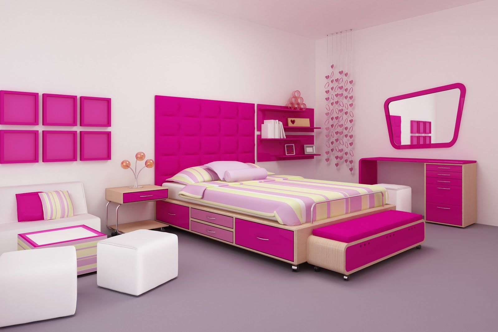 Charming Design Your Own Room In Purple Color With Pink Accent With Modern  Modular Style Ideas For Inspiration