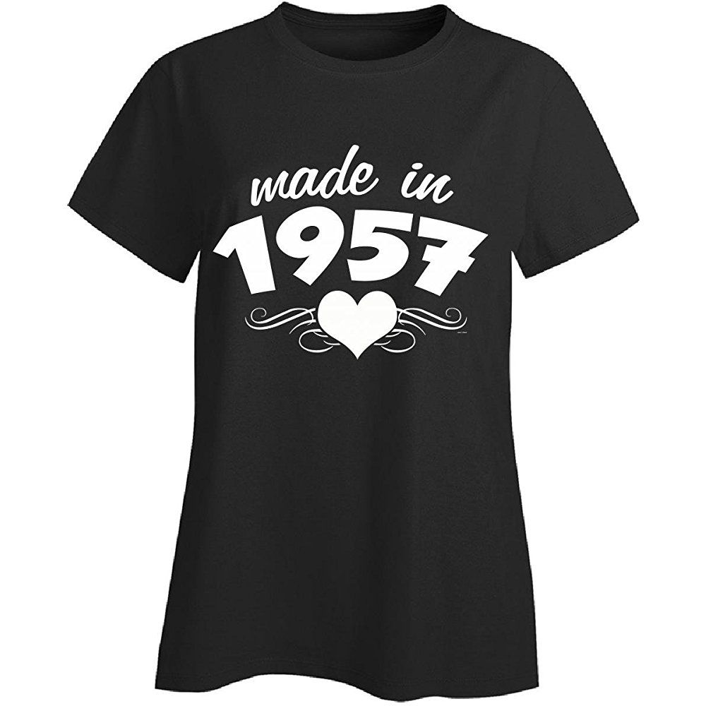 60th birthday gifts for her unique made in 1957 heart
