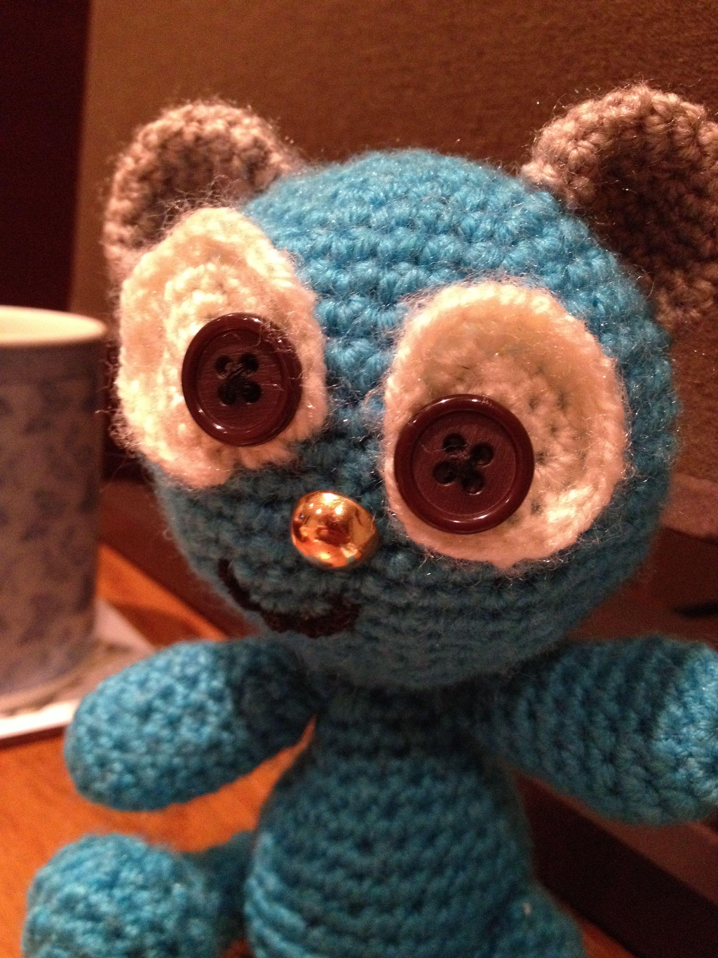 First teddy bear - around 2000 stitches!