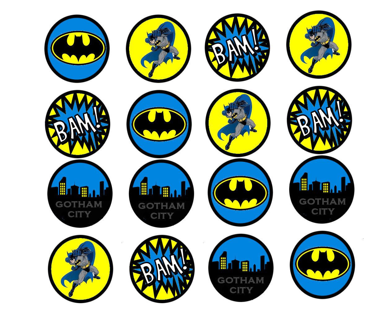 Batman Free Printables FREE Cupcake Toppers Birthday