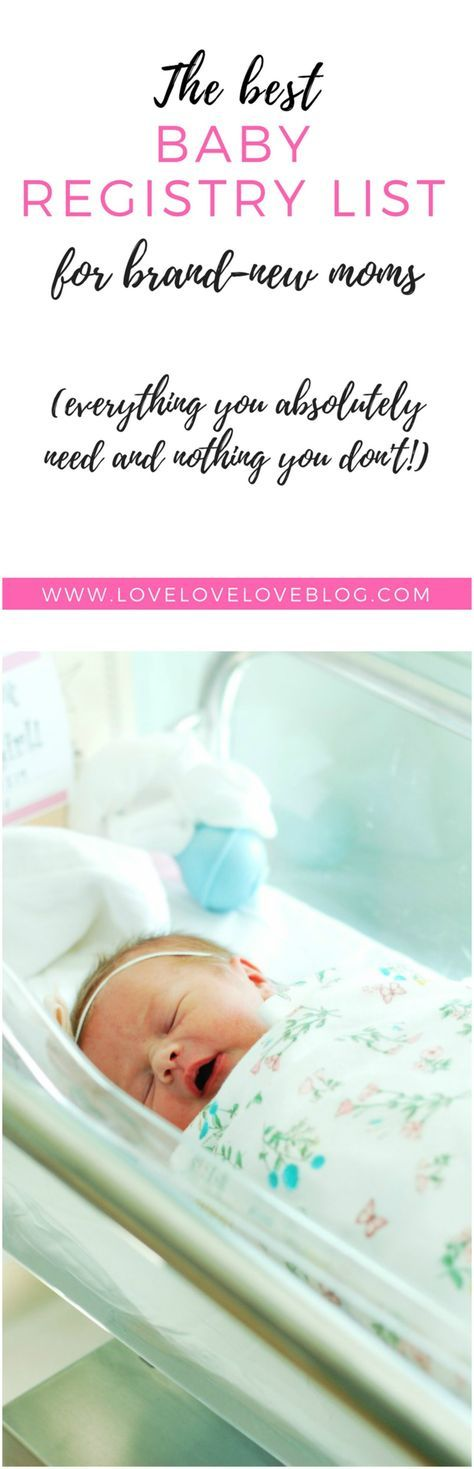 The Only Baby Registry Checklist You\u0027ll Need Pinterest Baby - baby registry checklists