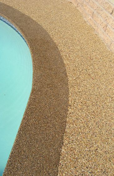 Pebble Epoxy Pool Deck For The Home Patio Flooring