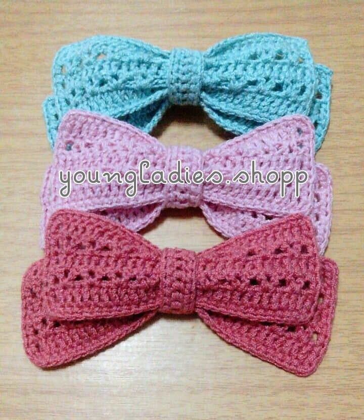 Youngladieshome Crochet Bow Pattern Crochet Ribbon Pinterest