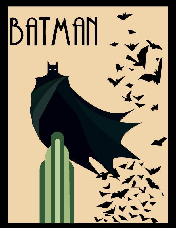 Art Deco Batman Poster By Crazedart1st On Deviantart Batman Poster Batman Art Joker Art