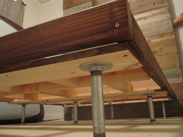 Building Of The Bed Frame Bed Frame And Headboard Diy Bed Frame
