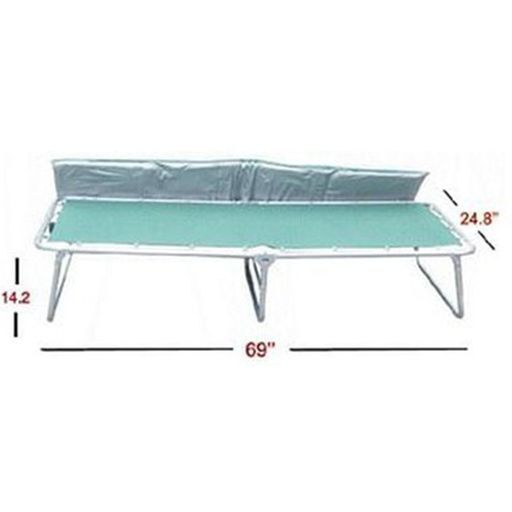 Folding Cot with Foam Mattress