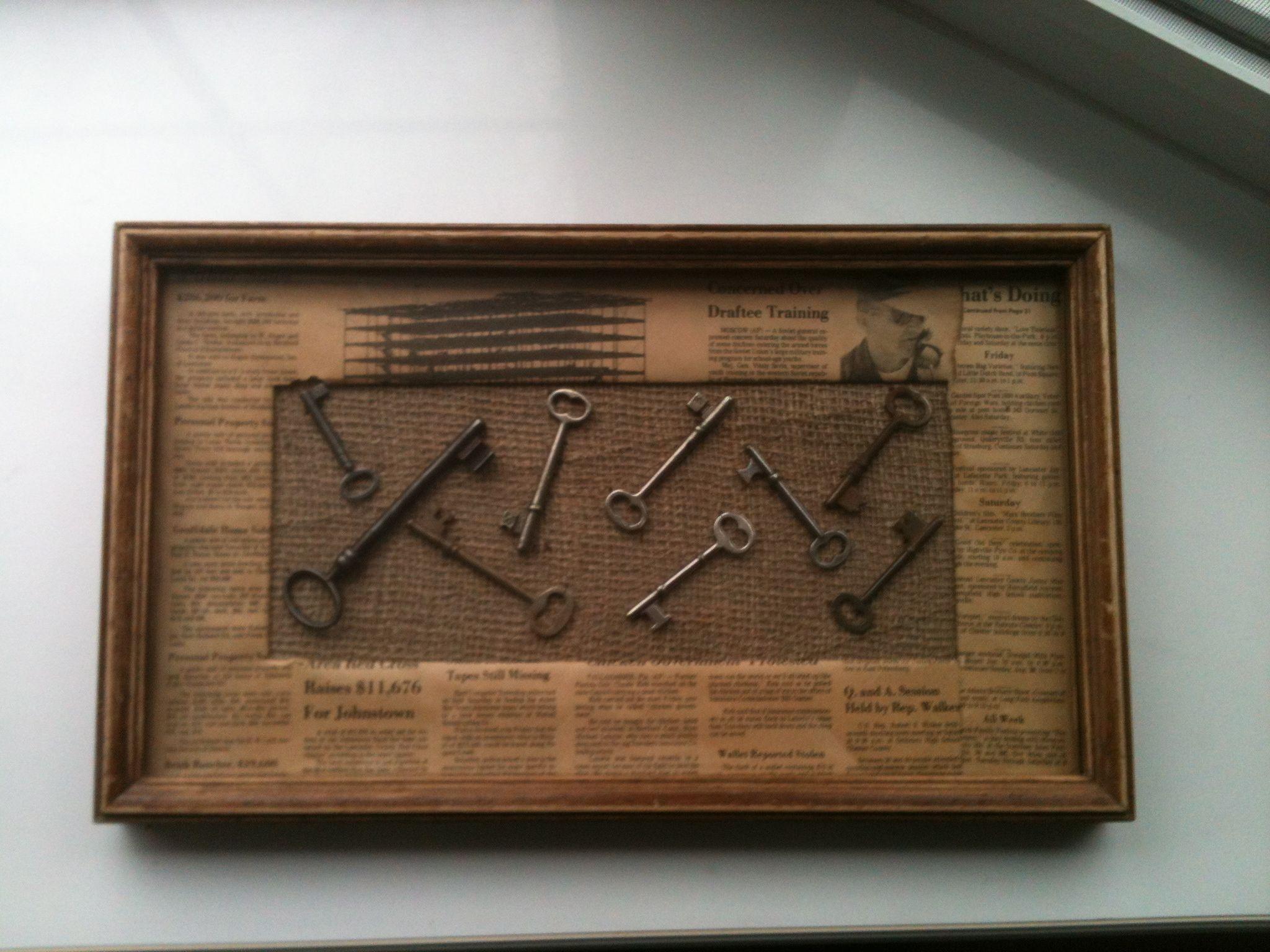Skeleton key decor Key crafts, Skeleton key crafts, Key diy