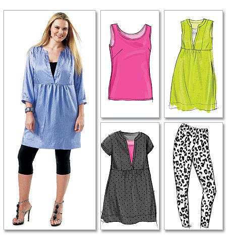 Collection Tunic Dress With Leggings Pictures - Reikian