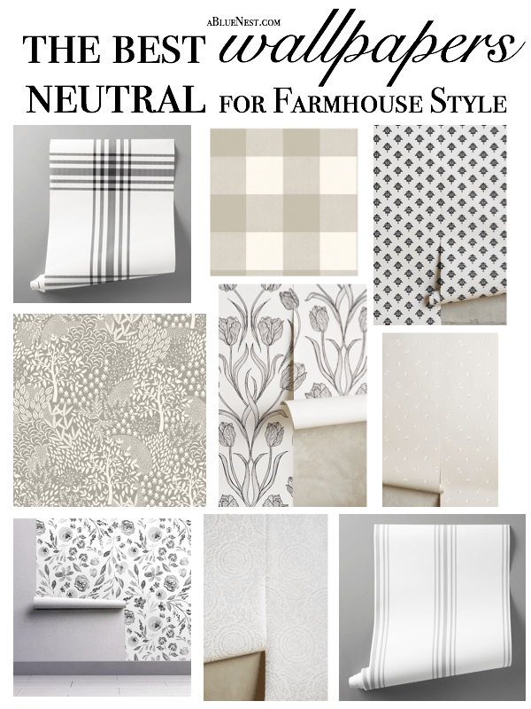 Photo of The Best Neutral Wallpaper for Farmhouse Style – A Blue Nest
