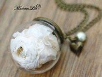 """""""Le Rose Eternelle"""" un morceau de nature Collier"""