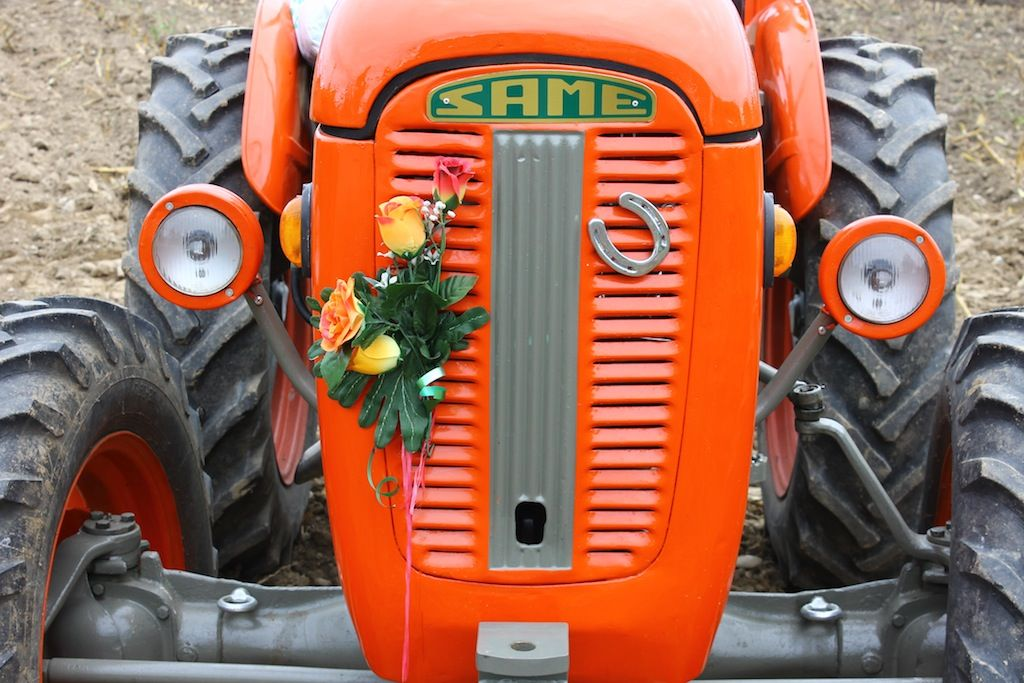 The #plowing festival 2013: history of #farm  machines #Same #tractor