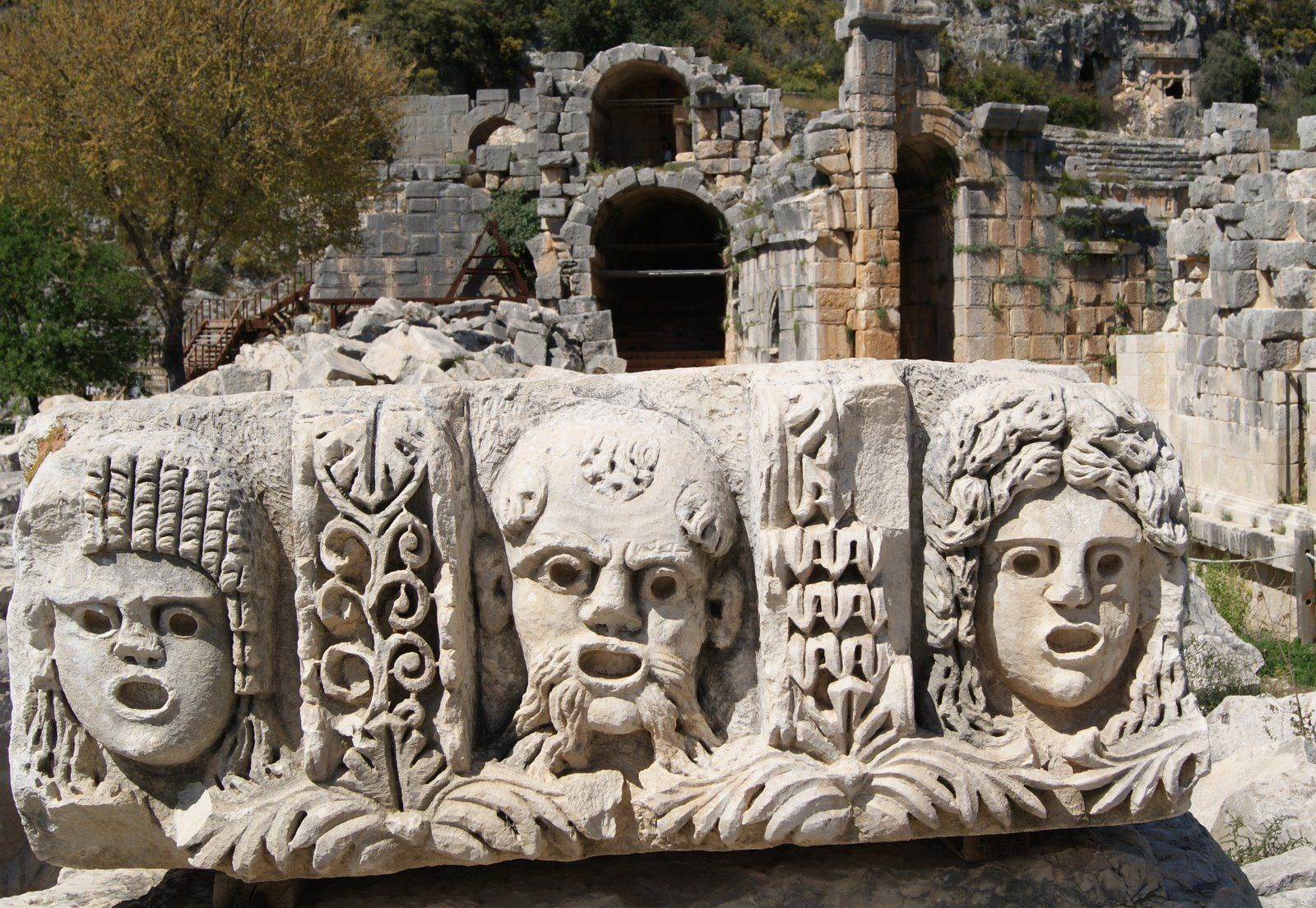 lycian tombs and roman fort -