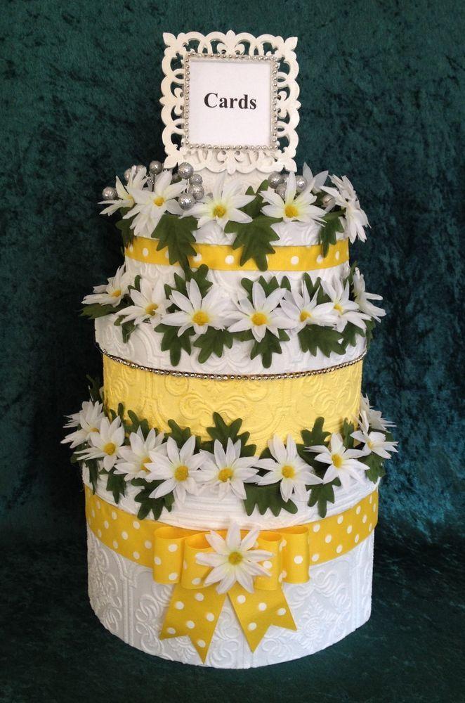 Daisy Wedding Card Box,Cake,handmade,Anniversary,Fabric,Invitation ...