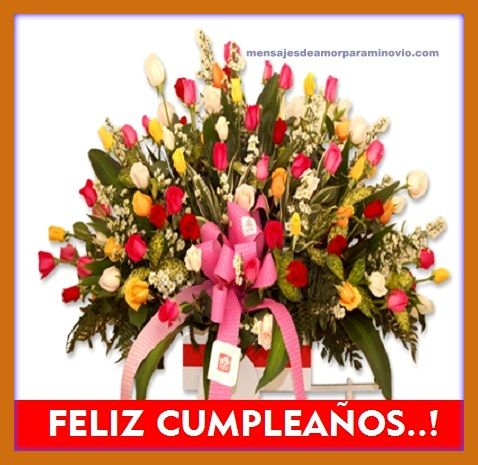 Felicitaciones Cumpleaños Flores