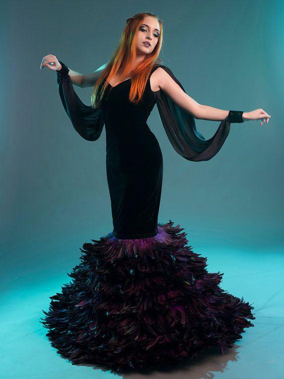 Gothic Mermaid Wedding Dresses