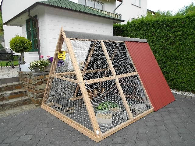 Gartengehege bauen Kaninchengehege, Kaninchengehege