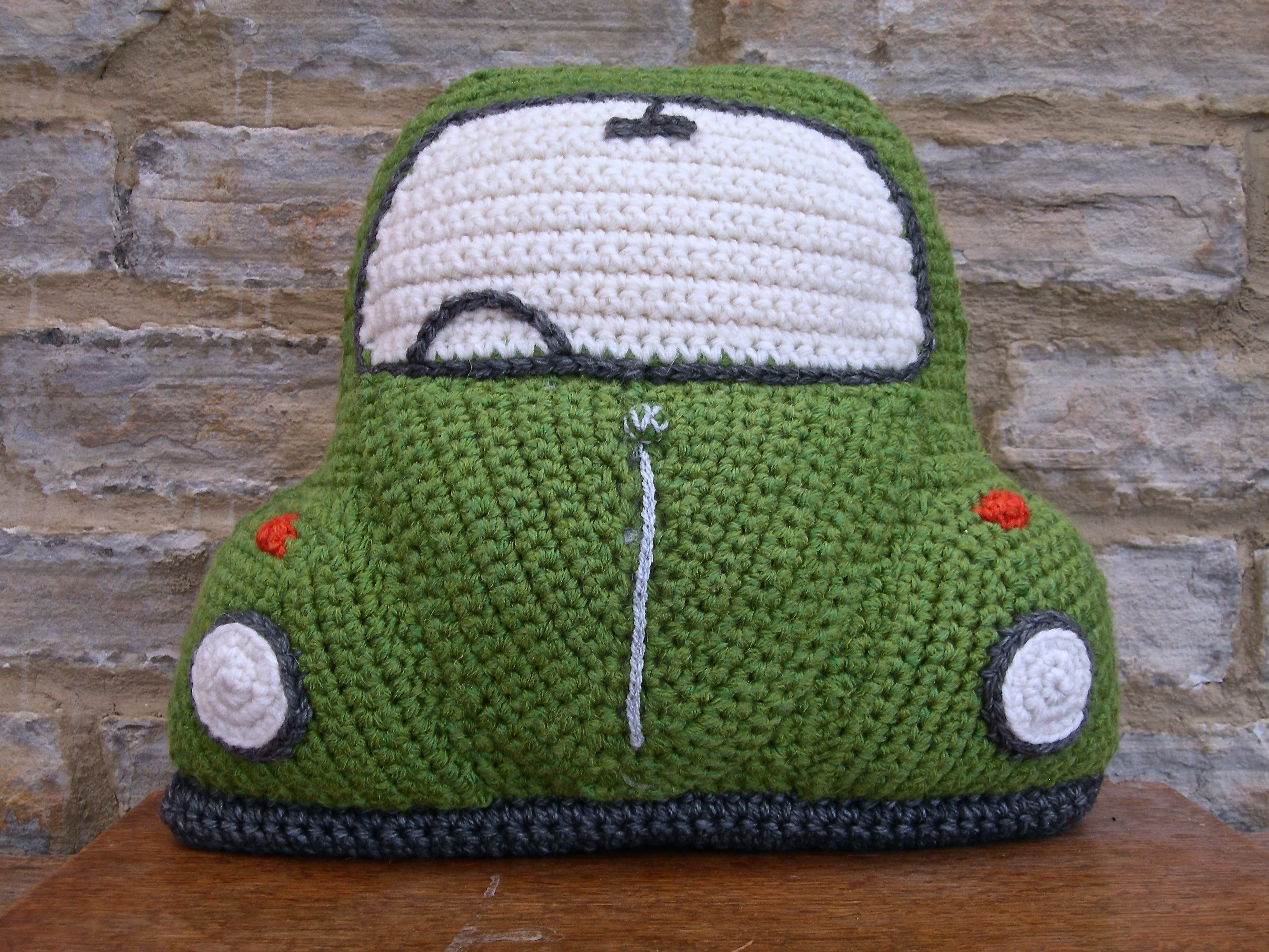 My new crocheted Beetle Cushion - based on the classic VW Bug :) | crochet | Pinterest | Crochet ...