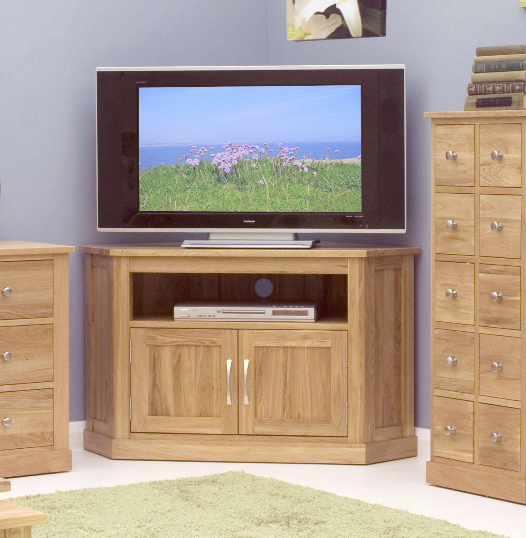 mobel oak corner tv cabinet by baumhaus