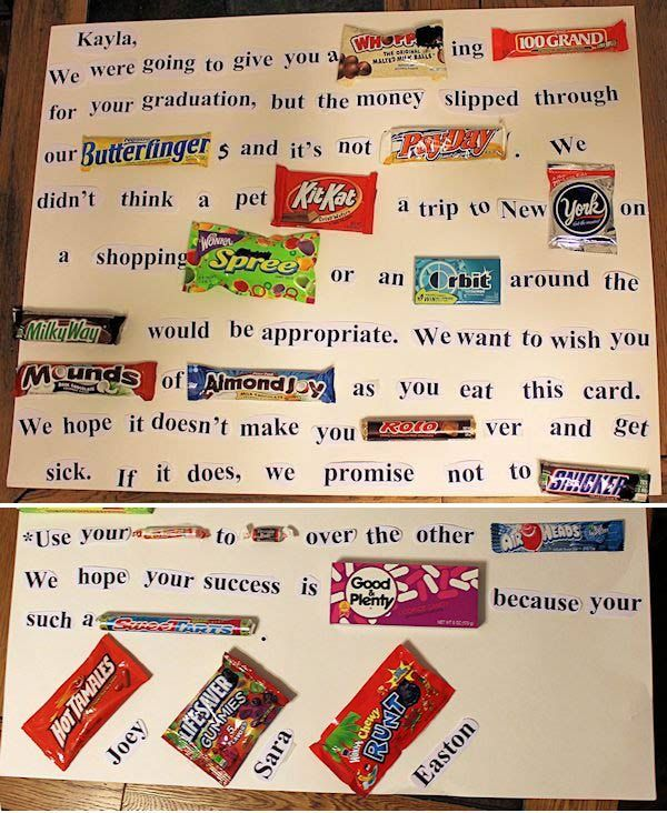 29 genius graduation diy ideas graduation cards bar and candy bar