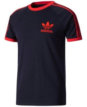 42f00f3d0 adidas Originals Men's California Cotton T-Shirt - Navy/Red 2XL ...