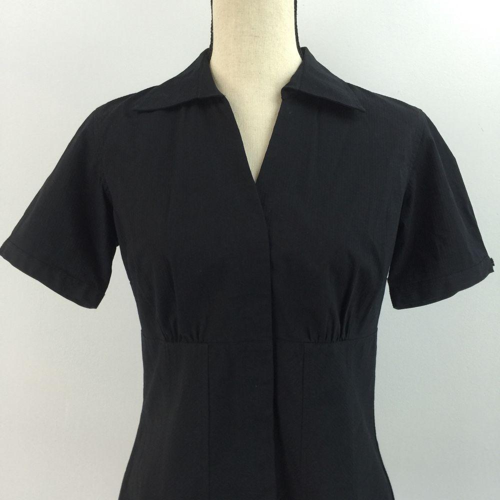 Style Co Women's Black Button Down Shirt Size 4 | eBay