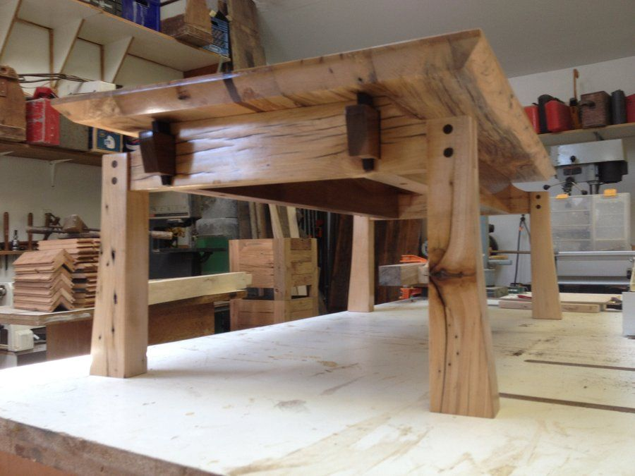 Fine Woodworking End Table Plans: Japanese Style Salvaged Barn Wood Coffee Table