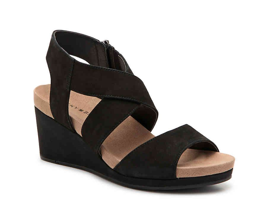 a436a6fb5c Kakina Wedge Sandal Black High Heels, Black Wedge Sandals, Lp, Wedges,  Handbags