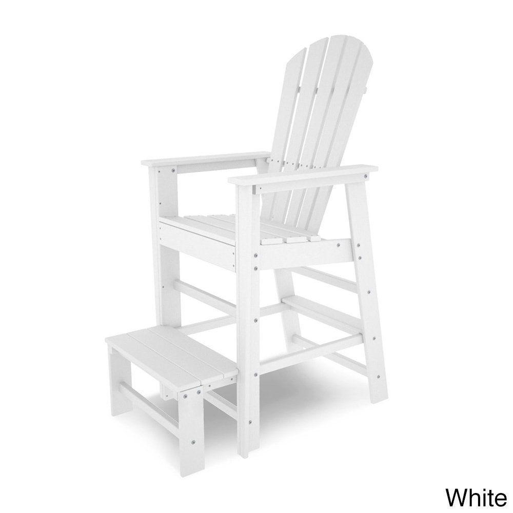 Superb Polywood South Beach Polyethylene Lifeguard Chair (White), Patio Furniture ( Plastic)