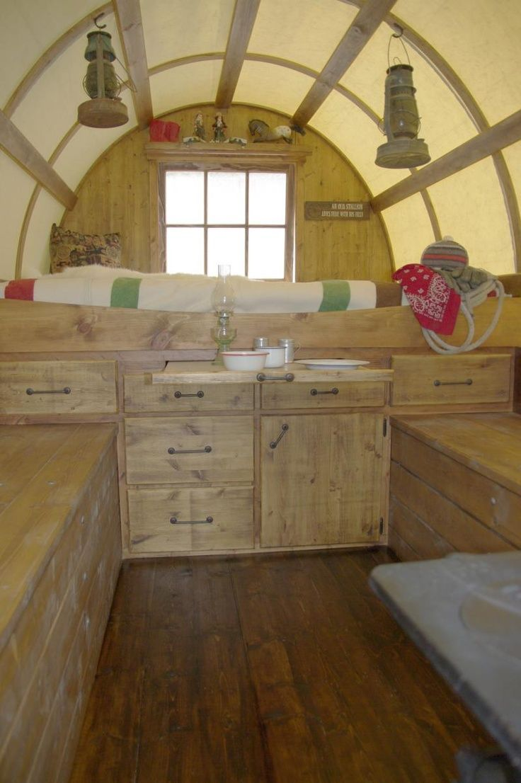 Interior Of A Vardo Style Sheep Wagon. Description From Pinterest.com. I  Searched