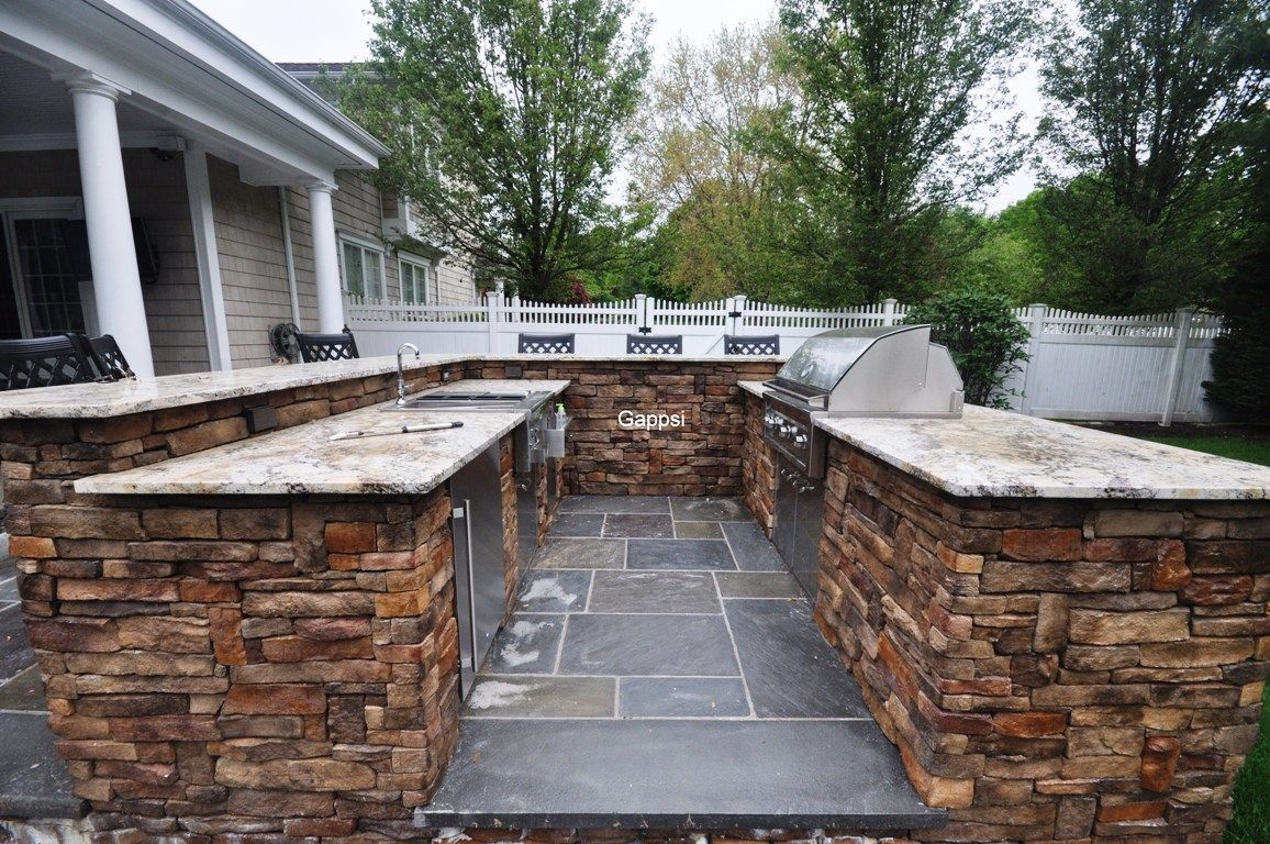 Masonry Companies Outdoor Cooking Island Masonry Contractor Dix Hills Suffolk County