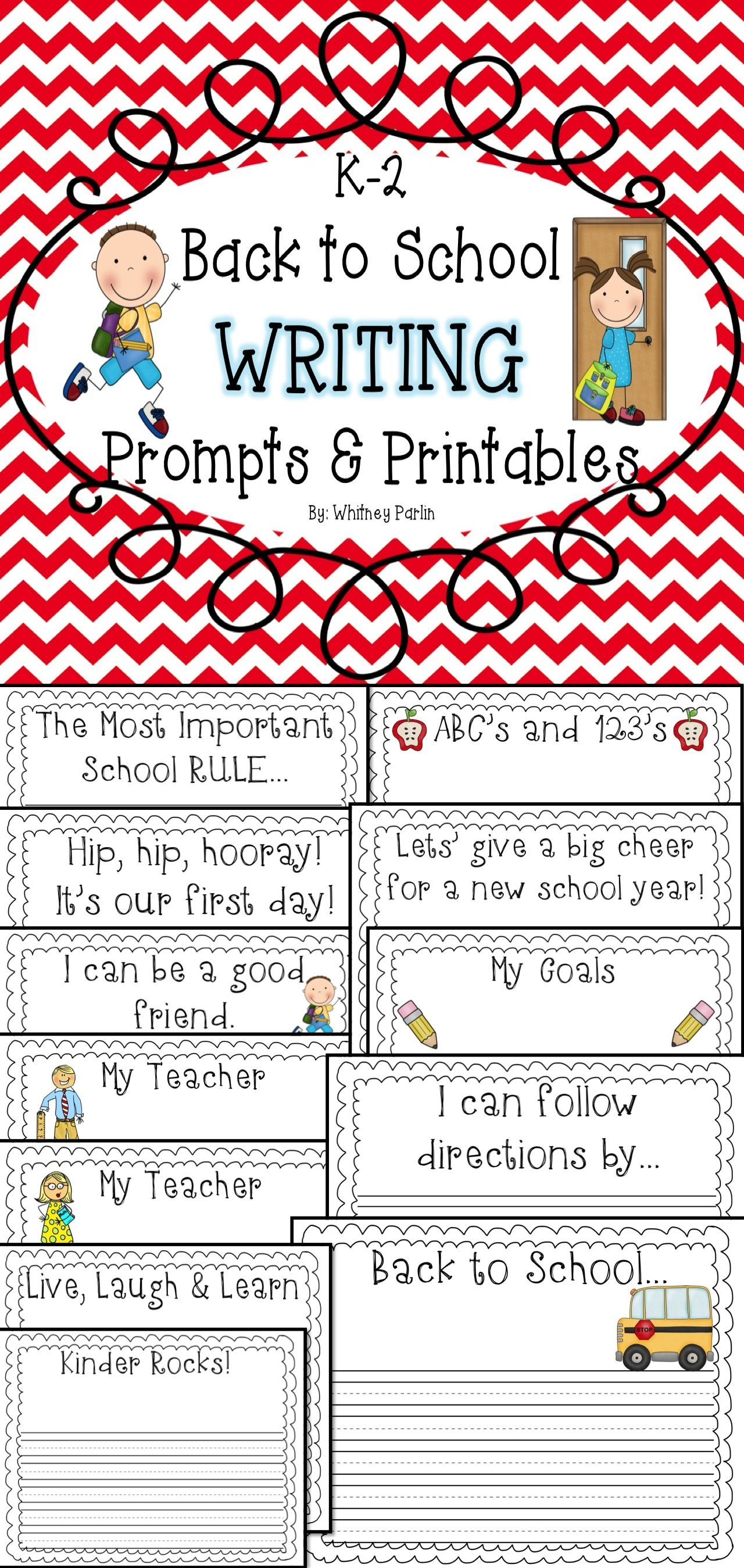 Free For A Limited Time Back To School Writing Prompts