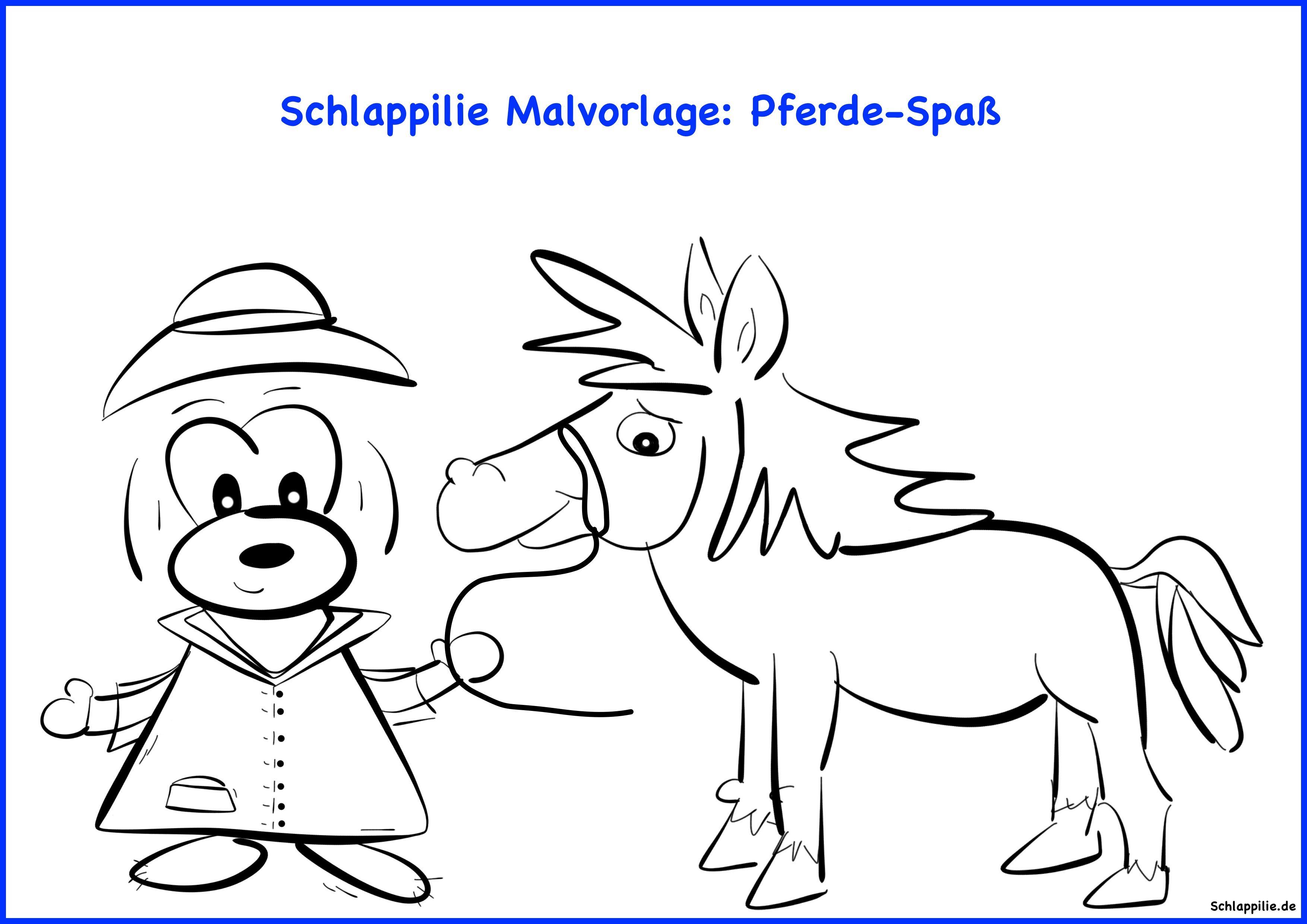 Schlappilie Malvorlage: Pferde-Spaß Gratis Download unter http ...