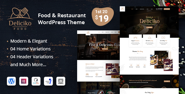 Deliciko Restaurant WordPress Theme Free Download