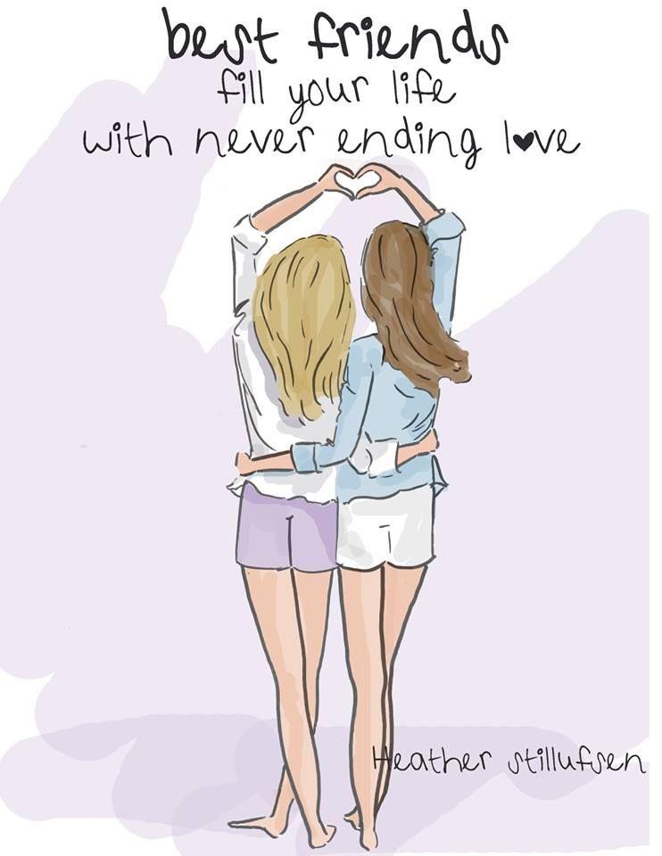 Los Mejores Amigos Llenan Tu Vida De Amor Sin Fin ღ Best Friend Drawings Drawings Of Friends Birthday Quotes For Best Friend