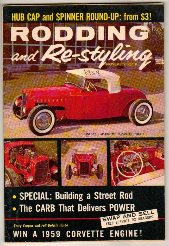 Rodding and Re-Styling November 1958 Old Vintage Car Magazine ...