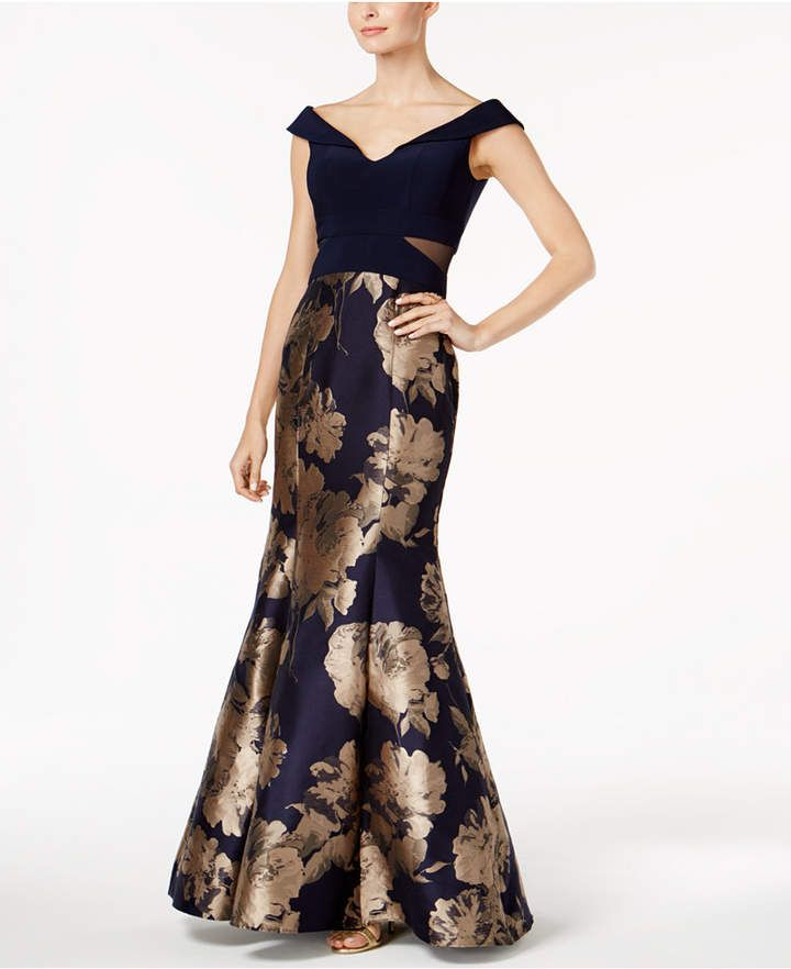 Printed Mermaid Gown #formal#stunner#Xscape | Men\'s Fashion Fall ...