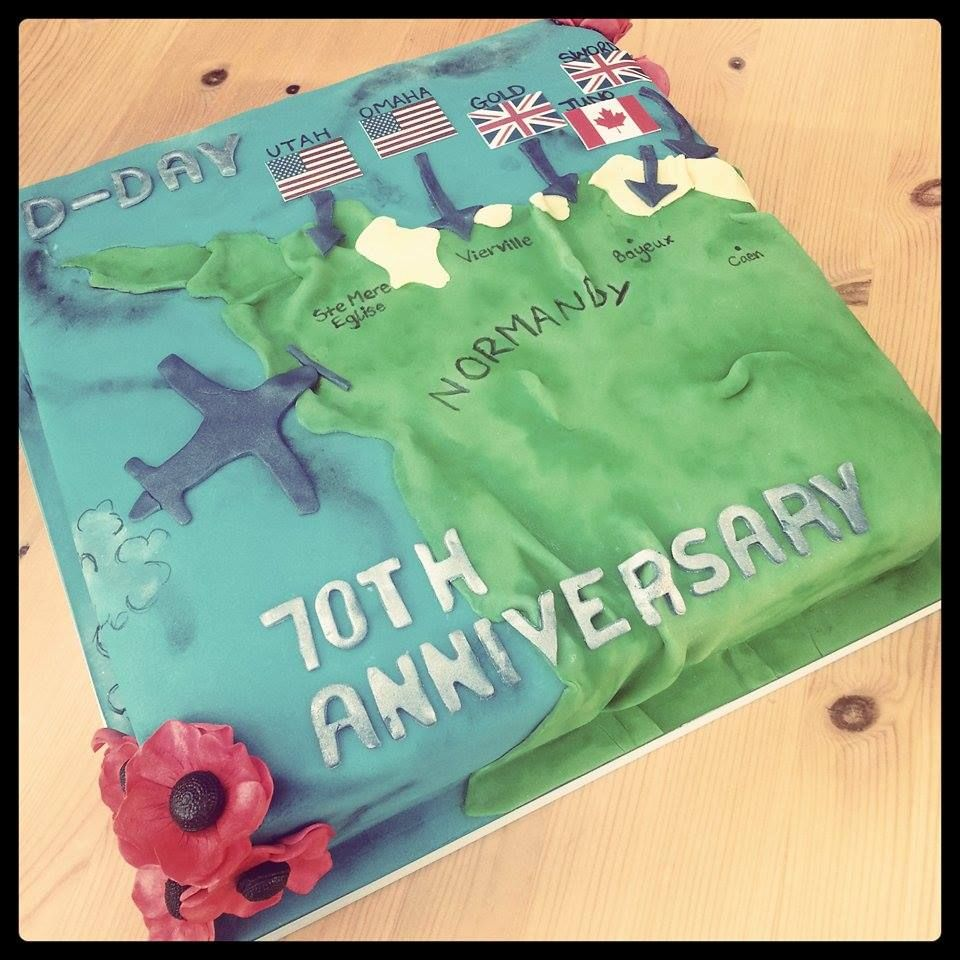 Tremendous D Day Cake By Kerry Marks For All Your Cake Decorating Supplies Funny Birthday Cards Online Ioscodamsfinfo