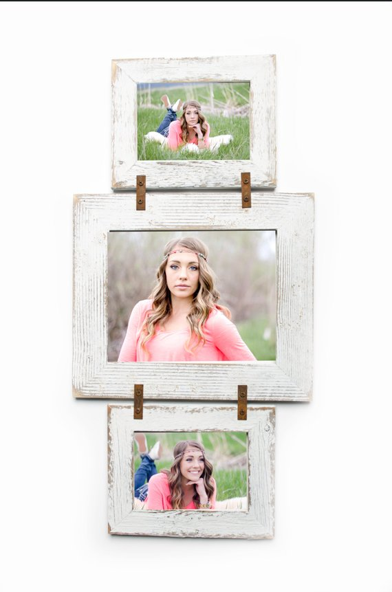 Barnwood Collage Frame 2 Hole 4x6 And 1 Hole 5x7 Multi Opening Frame Rustic Picture Frame Reclaimed Rustic Picture Frames Diy Picture Frames Collage Frames