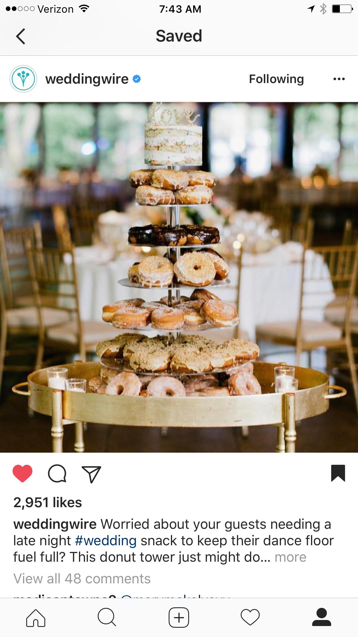 Donut Cake Stand Inspiration Wedding Snacks Wedding Desserts